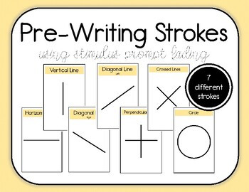 Pre Writing Strokes Worksheets