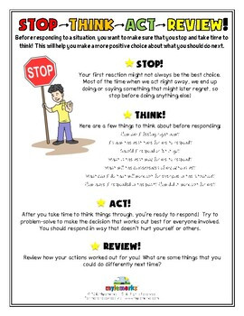 Stop and Think Activities Worksheets