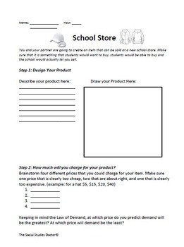 Supply and Demand Activity Worksheet