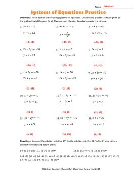 Practice with Systems of Equations A Halloween Activity