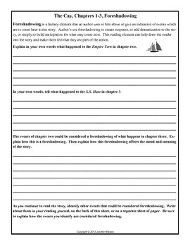 The Cay Activities and Worksheets
