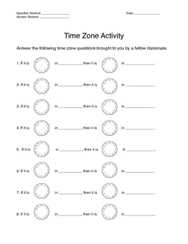 Time Zone Activity