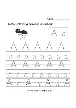 Writing A Letter Worksheet