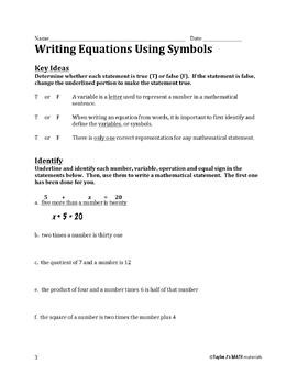 Writing and Solving Linear Equations Bundle