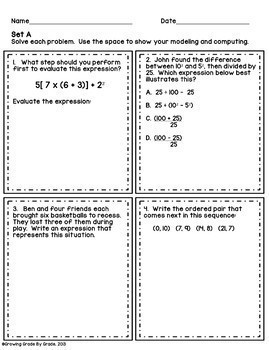 Writing Expressions Word Problems Worksheet