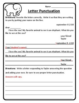 Responding to a Friendly Letter Worksheet Friendly Letter Writing Practice