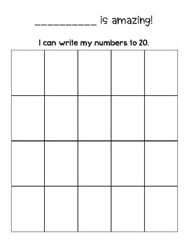 Writing Numbers To 20 Worksheets & Teaching Resources