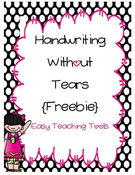 Writing without Tears Worksheets