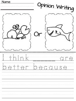 Writing Worksheets for toddlers